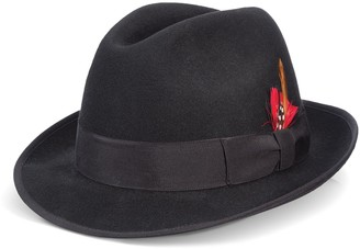 Scala Men's Wool Felt Fedora With Feather