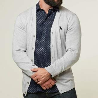Blade + Blue Grey Heather Cardigan Sweater