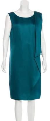 Oscar de la Renta Silk Raw-Edge-Trimmed Dress