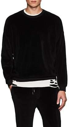 NSF Men's Cotton-Blend Velour Crewneck Sweatshirt - Black