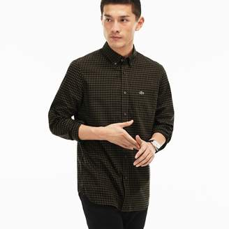 Lacoste Men's Regular Fit Mini Check Poplin Shirt