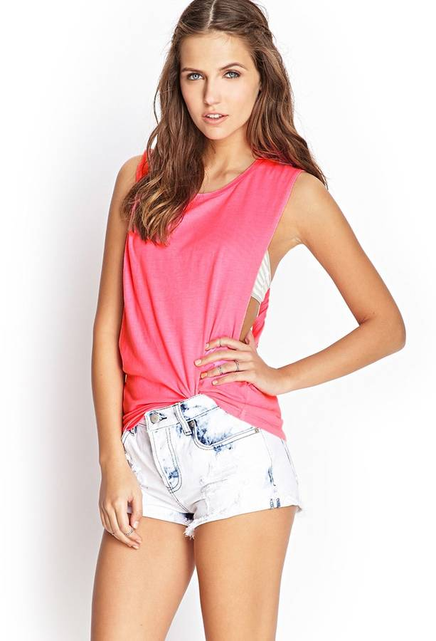 Forever 21 Twisted Cutout Muscle Tee