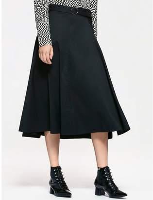 Calvin Klein platinum long belted skirt