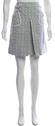 Celine Knee-Length Patterned Skirt