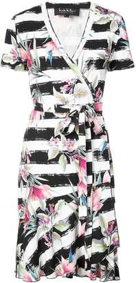 Nicole Miller floral printed wrap dress