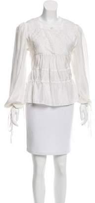 Givenchy Ruffled Silk Top