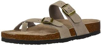 Skechers Women's Granola-Opt Out-Double Buckle Toe Thong Slide Flip-Flop