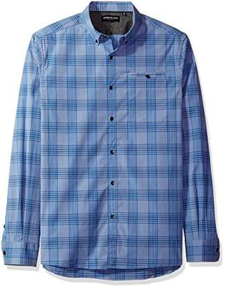 Kenneth Cole New York Men's Long Sleeve Besom Pocket Shirt