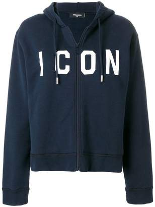 DSQUARED2 Icon embroidered hoodie
