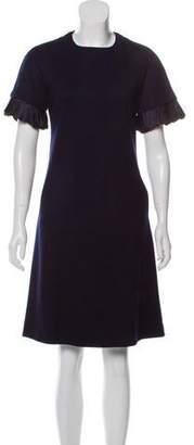 Lela Rose Wool Shift Dress
