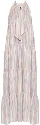 LISA MARIE FERNANDEZ Baby Doll striped seersucker dress $675 thestylecure.com
