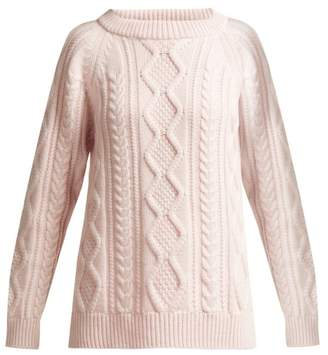 Queene And Belle - Clara Cashmere Sweater - Womens - Light Pink
