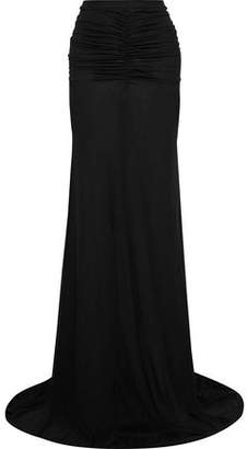 Rick Owens Ruched Jersey Maxi Skirt