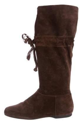 Miu Miu Suede Knee-High Boots