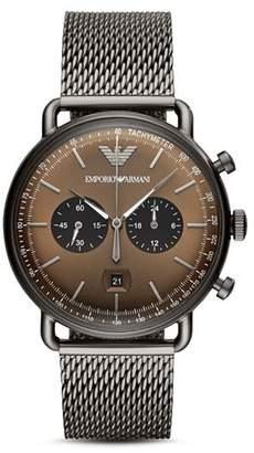 Giorgio Armani Brown Dial Chronograph, 43mm