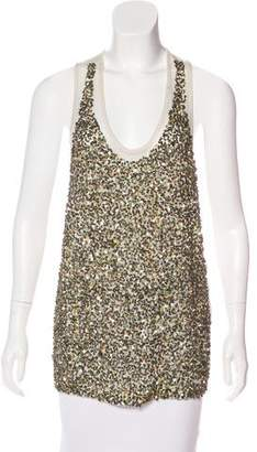 Stella McCartney Sequined Knit Top
