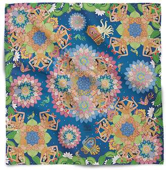 House of Gharats - Dance Of Divine Love Silk Scarf Blue