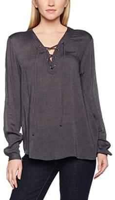 Kaffe Women's 500992 Loose Fit V-Neck Long Sleeve Blouse - Grey - 8