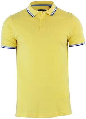 Brave Soul Mens Warsaw Triple Tipped Short Sleeve Polo Shirt (L)
