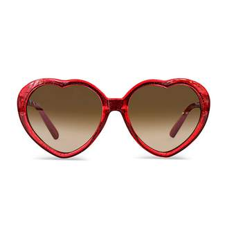 Milk & Soda Sophie Red Glitter Sunglasses