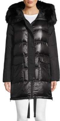 Derek Lam 10 Crosby Fox Fur-Trimmed Hooded Parka