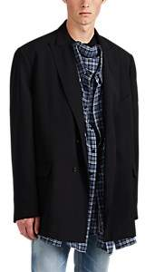 Balenciaga Men's Oversized Double-Breasted Sportcoat - Black