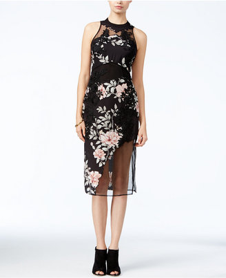 GUESS Alaura Mixed-Media Dress $148 thestylecure.com