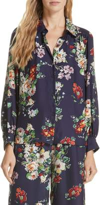 The Great Floral Silk Blouse