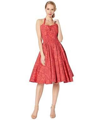 Unique Vintage x Alfred Shaheen Tiki Print Swing Dress