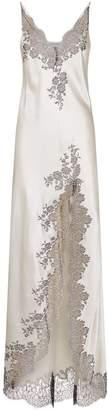 Carine Gilson Lace Trim Silk Long Chemise