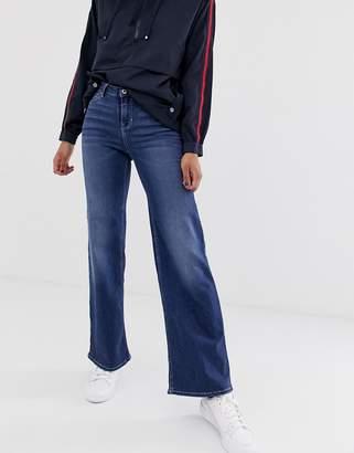Only wide leg high waist jean