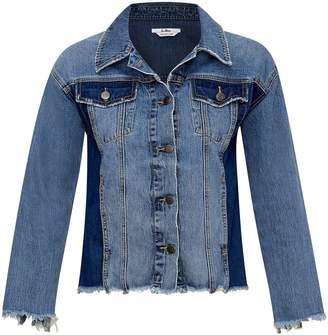 Sam Edelman Karlie Two-Tone Denim Jacket