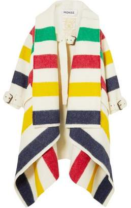 Monse Striped Wool Felt Coat