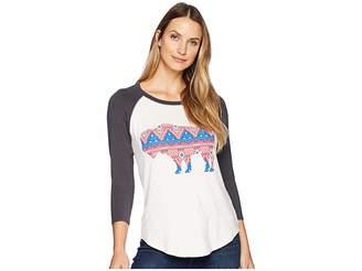 Wrangler Long Sleeve Baseball Tee Shirt Print
