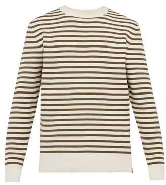 Bottega Veneta Breton Stripe Crew Neck Sweater - Mens - Beige Multi