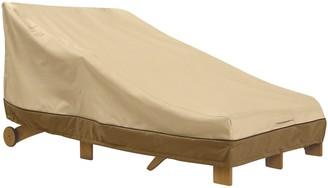 Classic Accessories Veranda Patio Double Wide Chaise Lounge Cover