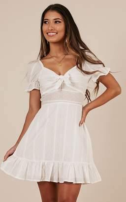 b4c0a2103663 Showpo Catching Feelings dress in white - 8 (S) Casual Dresses