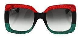 Gucci Women's 55MM Oversized Square Colorblock Sunglasses