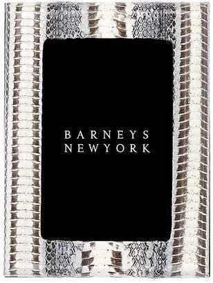 """Barneys New York Studio Snakeskin 4"""" x 6"""" Picture Frame"""