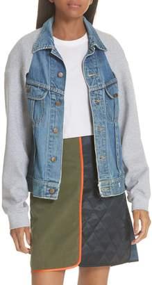 HARVEY FAIRCLOTH Sweatshirt Sleeve Denim Cape Jacket