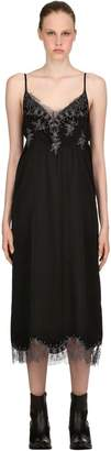 Silk & Lace Midi Dress