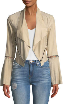 Haute Hippie Festival Open-Front Cropped Stitched Jacket