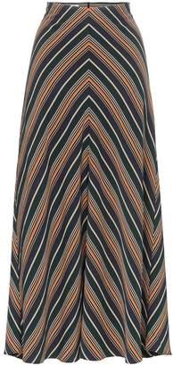 Beaufille serra chevron stripe skirt