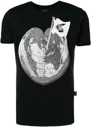 Vivienne Westwood heart globe printed T-shirt