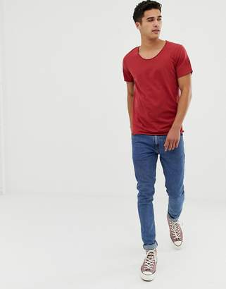 Selected t-shirt with scoop neck