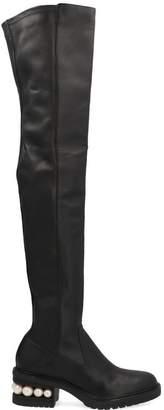 Nicholas Kirkwood Casati Pearl Detail Heel Thigh High Boots