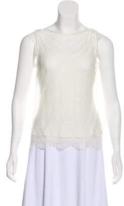 Tamara Mellon Sleeveless Lace Top