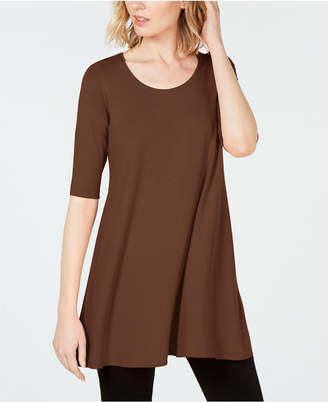 Eileen Fisher Stretch Jersey Elbow-Sleeve Tunic