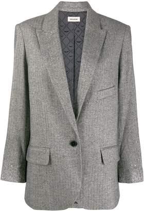 Zadig & Voltaire Zadig&Voltaire rhinstone cuff blazer