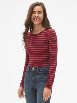 Gap Modern Long Sleeve Stripe Crewneck T-Shirt